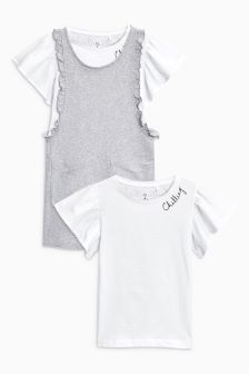 Jersey Dress And T-Shirt Set (3-16yrs)