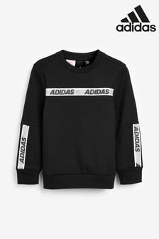 adidas Black Sport ID Tape Crew