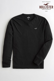 Hollister Black Long Sleeve Basic T-Shirt