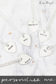 Personalised Sterling Silver Heart Necklace by Lisa Angel