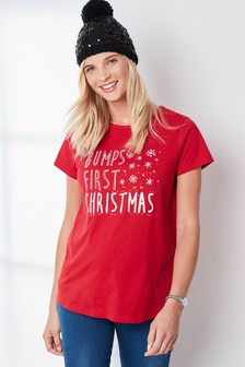 Maternity Bumps Christmas Tee