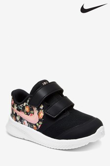 Nike Run Black/Floral Star Runner Infant Trainers