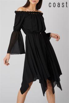 Coast Black Dante Beaded Dress
