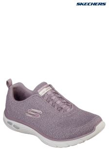 Skechers® Purple Sparkle Flat Gore Bungee Slip-On With Air Cooled Memory Foam