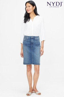 NYDJ Mid Denim Skirt