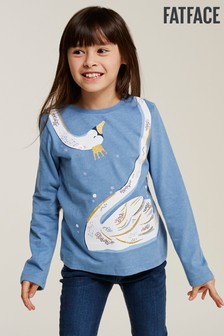 FatFace Blue Swan Graphic Tee