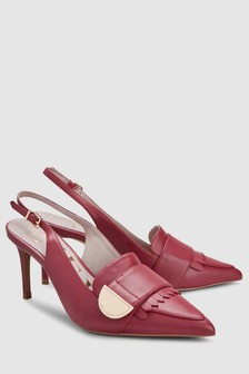 Heritage Leather Slingbacks