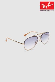 Ray-Ban® Gold Blaze Aviator Sunglasses