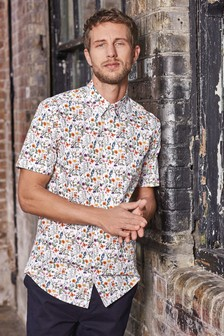 Slim Fit Floral Shirt