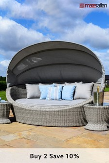 Oxford Grey Daybed by Maze Rattan