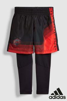 adidas Black/Red Star Wars Short