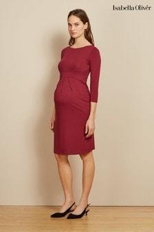 שמלת היריון של Isabella Oliver דגם Ivybridge בוורוד
