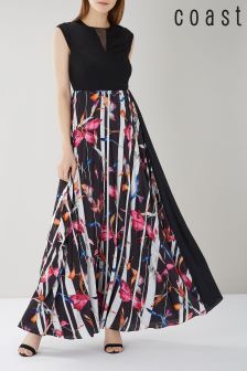 Coast Katie Print Pleated Maxi Dress