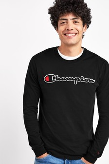 Champion Logo Long Sleeve T-Shirt