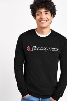 Koszulka z długim rękawem i logo Champion