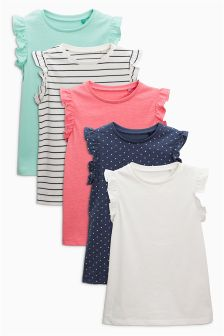 Frill Vests Five Pack (3mths-6yrs)
