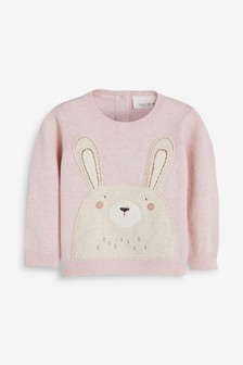Bunny Knitted Jumper (0mths-2yrs)