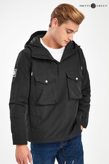 Pretty Green Black Butler Smock Jacket