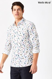 White Stuff White Butterfly Print Shirt
