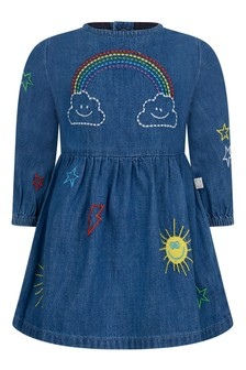 Baby Girls Blue Chambray Weather Dress