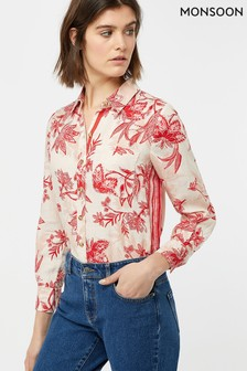 c8af096b6688 Add to Favourites. Monsoon Ladies Natural Alyssa Print Linen Shirt