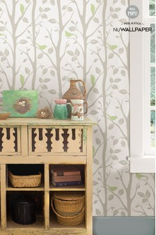NuWalls Sitting Tree Self Adhesive Wallpaper