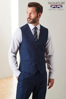 Empire Mills Signature Textured Suit: Waistcoat