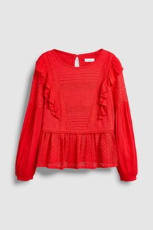 Lace Detail Blouse (3-16yrs)