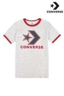 Converse Boys Grey Star Chevron Ringer T-Shirt