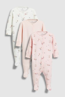 Floral Sleepsuits Three Pack (0mths-2yrs)