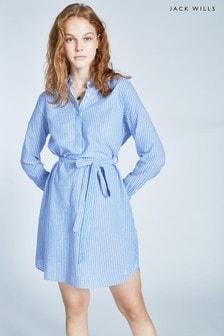 Jack Wills Blue Chelseawood Stripe Shirt Dress