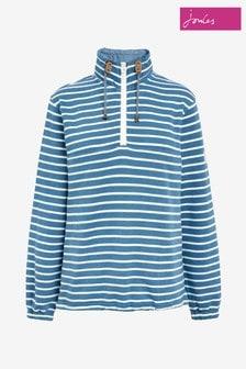 Joules Blue Bewley Saltwash Casual Half Zip Sweatshirt