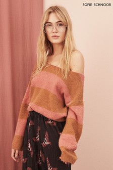 Sofie Schnoor Orange And Pink Stripe Knit