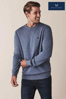 Crew Clothing Blue Foxley Crew Neck Jumper
