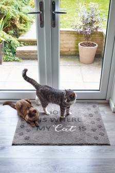 Home Is Where My Cat Is Doormat