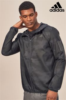 adidas Run Carbon Response Graphic Hooded Wind Jacket