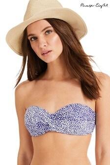 Phase Eight Blue Sara Spot Bikini Top