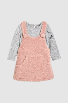 Fleece Pinafore Set (3mths-6yrs)
