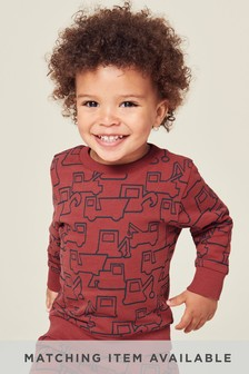 Digger All Over Print Crew (3mths-7yrs)
