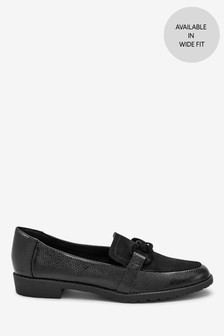 Cleated Chain Loafers
