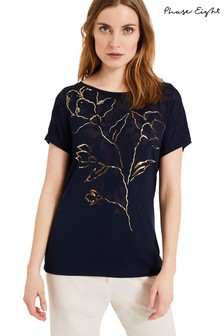 Phase Eight Blue Mya Print T-Shirt