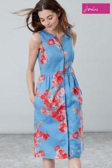 שמלת פשתן Lisia כחולה של Joules