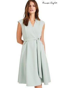 Phase Eight Green Joyce Belted Dress