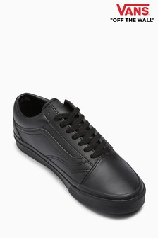 Vans Black/Black Leather Old Skool