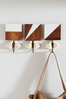 Wooden Tassel Hooks