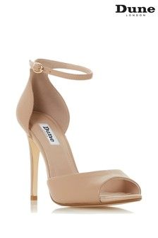 Dune London Nude Honey-Leather Shoe