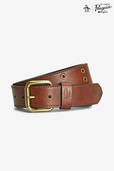 Original Penguin® Brown Casual Eyelet Belt