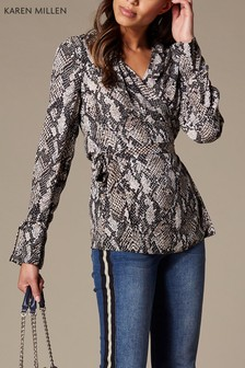 Karen Millen Snake Print Collection Shirt
