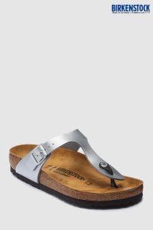 Birkenstock® Silver Pearl Gizeh Sandal
