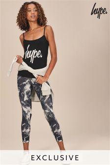 Hype. Black Printed Legging